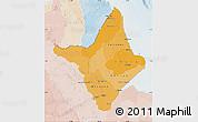 Political Shades Map of Amapa, lighten