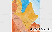Political Shades Map of Amapa