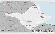 Gray Panoramic Map of Amapa