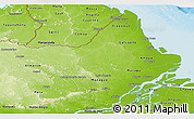 Physical Panoramic Map of Amapa
