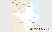 Classic Style Simple Map of Amapa