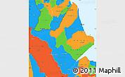 Political Simple Map of Amapa