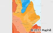 Political Shades Simple Map of Amapa