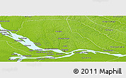 Physical Panoramic Map of Manaus