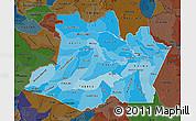 Political Shades Map of Amazonas, darken