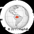 Outline Map of Amazonas