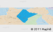Political Panoramic Map of Abare, lighten