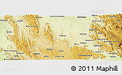 Physical Panoramic Map of Botupora