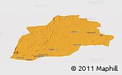 Political Panoramic Map of Casa Nova, cropped outside