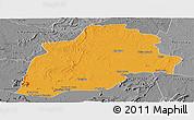 Political Panoramic Map of Casa Nova, desaturated