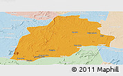 Political Panoramic Map of Casa Nova, lighten