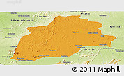 Political Panoramic Map of Casa Nova, physical outside