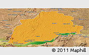 Political Panoramic Map of Casa Nova, satellite outside