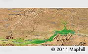 Satellite Panoramic Map of Casa Nova