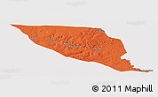 Political Panoramic Map of Jeremoabo, cropped outside