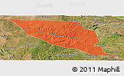 Political Panoramic Map of Jeremoabo, satellite outside