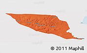 Political Panoramic Map of Jeremoabo, single color outside