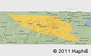 Savanna Style Panoramic Map of Jeremoabo