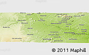 Physical Panoramic Map of Paulo Afonso