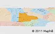 Political Panoramic Map of Paulo Afonso, lighten