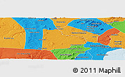 Political Panoramic Map of Paulo Afonso