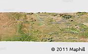 Satellite Panoramic Map of Paulo Afonso