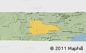 Savanna Style Panoramic Map of Paulo Afonso