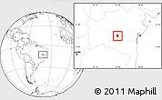 Blank Location Map of Piata