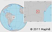 Gray Location Map of Piata