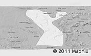Gray Panoramic Map of Rodelas