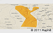 Political Panoramic Map of Rodelas, shaded relief outside