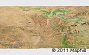 Satellite Panoramic Map of Rodelas