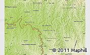 Physical Map of Capanema