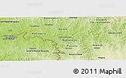 Physical Panoramic Map of Capanema