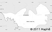 Silver Style Simple Map of Capanema