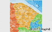Political Shades 3D Map of Ceara