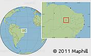 Savanna Style Location Map of Altaneira