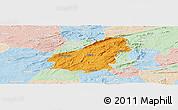 Political Panoramic Map of Assare, lighten