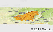 Political Panoramic Map of Assare, physical outside