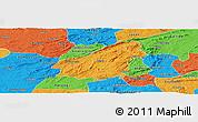 Political Panoramic Map of Assare