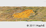 Political Panoramic Map of Assare, satellite outside