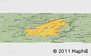 Savanna Style Panoramic Map of Assare