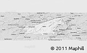 Silver Style Panoramic Map of Assare
