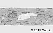 Gray Panoramic Map of Aurora