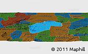 Political Panoramic Map of Aurora, darken