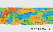 Political Panoramic Map of Aurora