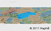 Political Panoramic Map of Aurora, semi-desaturated