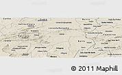 Shaded Relief Panoramic Map of Aurora