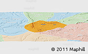 Political Panoramic Map of Cococi, lighten