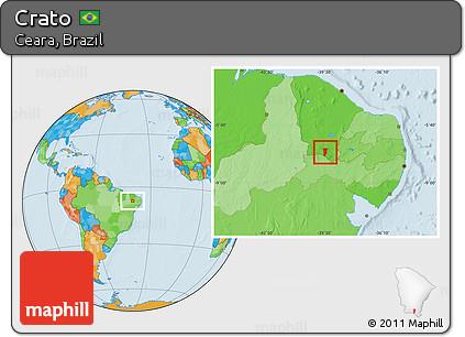 Free Political Location Map Of Crato - Crato map
